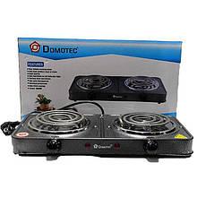 Электроплита Domotec MS-5802 электрическая настольная двухконфорочная плита спиральная Домотек ms 58
