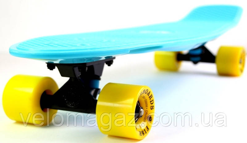 "Penny Board пенниборд Original Nickel ""Fish"" Light blue"