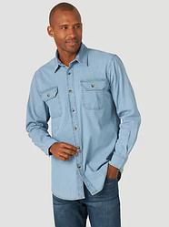 Рубашка джинсовая Wrangler- Heritage Wash