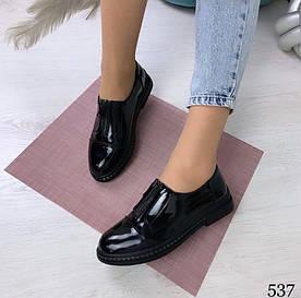 """Туфли """"""""Tiffani"""""""" черные эко лак//"""