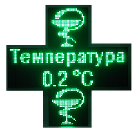 Аптечный крест 960*320 ДВУХСТОРОННИЙ (Зеленый), фото 1