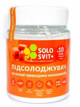 Замінник цукру Solosvit Солосвіт+, в 10 разів солодше цукру, банку 200 р.
