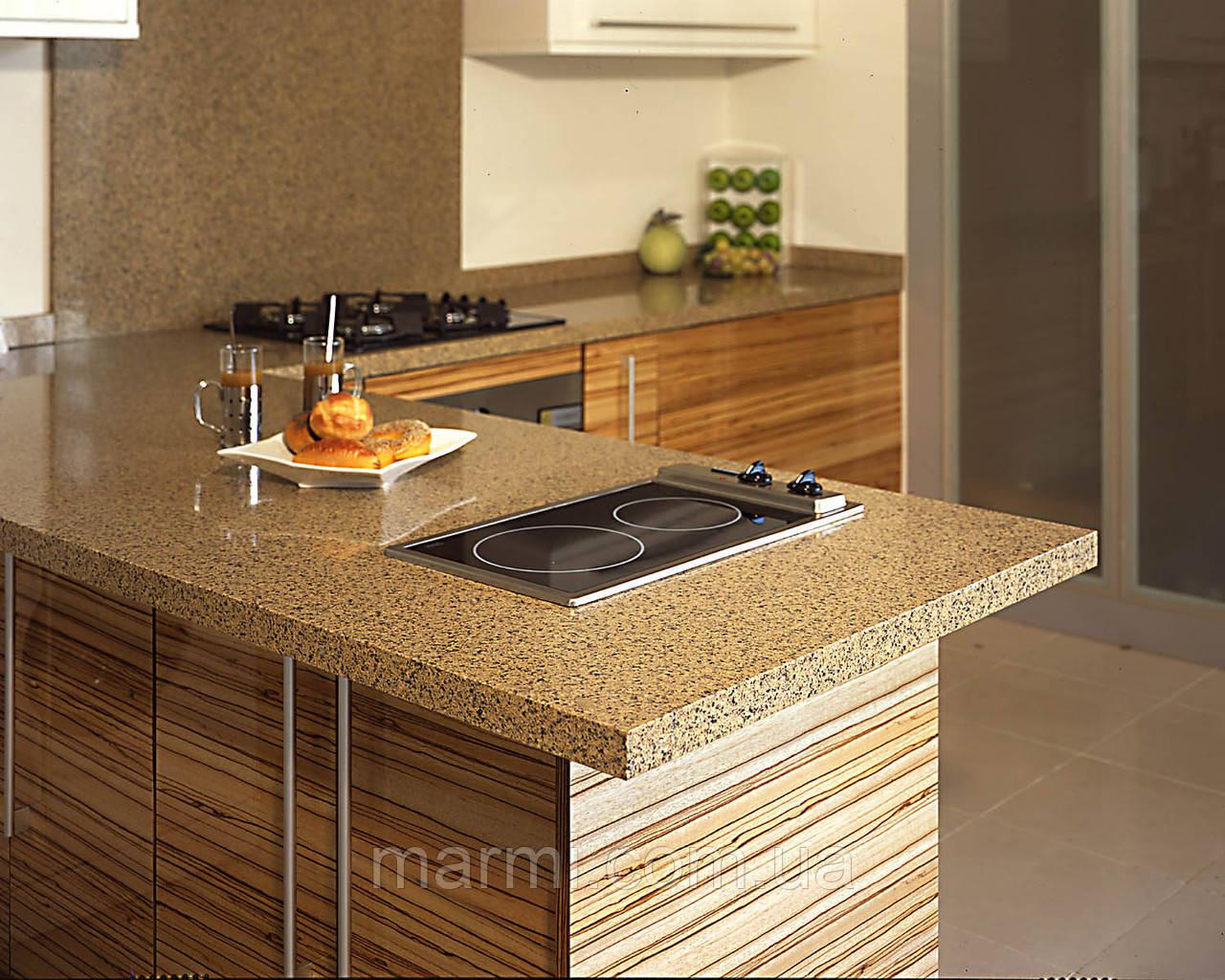 Столешница из кварца quarella цвета Кухня искуственный камень Шатура