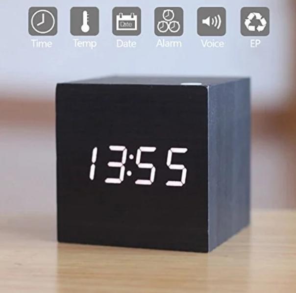 Настольные Стильные часы VST-869-6 с белой подсветкой