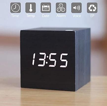 Настольные Стильные часы VST-869-6 с белой подсветкой, фото 2