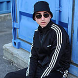 Adidas cпортивный мужской костюм черный весна-осеньМужской демисезонный спортивный костюм!, фото 4