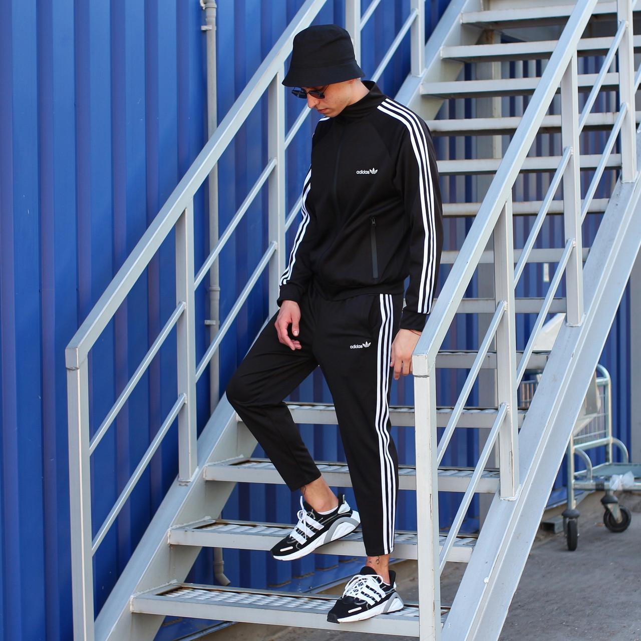 Adidas cпортивный мужской костюм черный весна-осеньМужской демисезонный спортивный костюм!
