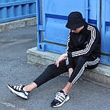 Adidas cпортивный мужской костюм черный весна-осеньМужской демисезонный спортивный костюм!, фото 6