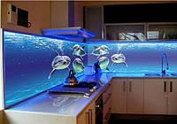 Кухонный фартук с фотопечатью на стекле и подсветкой