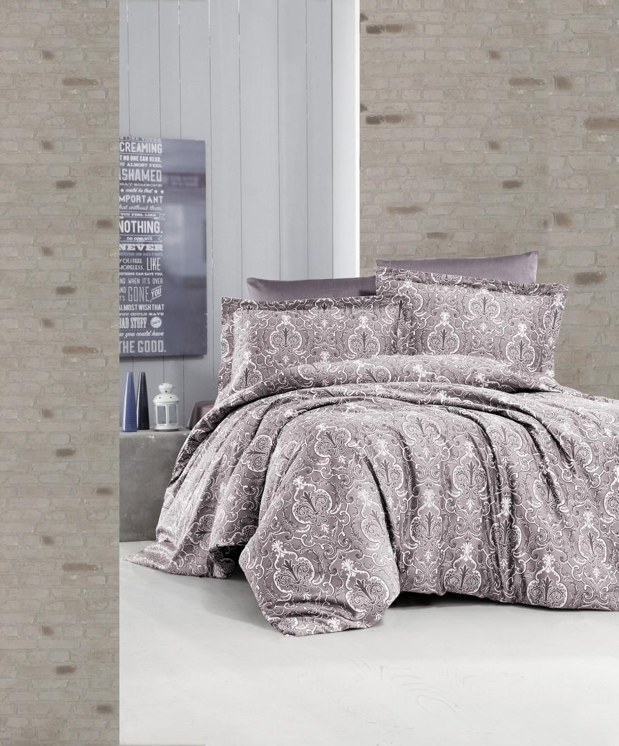 Комплект постельного белья First Choice Satin Delmor Laylak 160х220х2 Семейный
