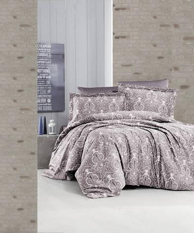 Комплект постельного белья First Choice Satin Delmor Laylak 160х220х2 Семейный, фото 2