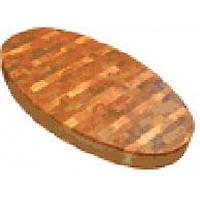 Доска деревянная торцевая овальная с металлическим ободом ДРТО 95