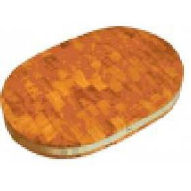 Доска деревянная торцевая полуовальная с металлическим ободом ДРТП 07