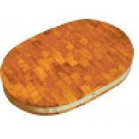Доска деревянная торцевая полуовальная с металлическим ободом ДРТП 06