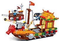 """Конструктор  """"Китайский корабль"""" 372 деталей 6606 Banbao"""