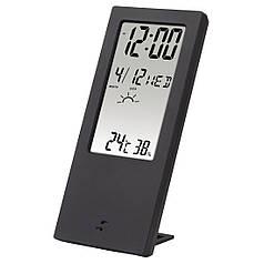 Термометр/гігрометр HAMA TH 140 з індикатором погоди black артикул 00186365
