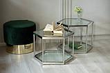 Кавовий стіл СК-1 прозорий+срібло 60*52 h 50.5 Vetro Mebel, фото 3