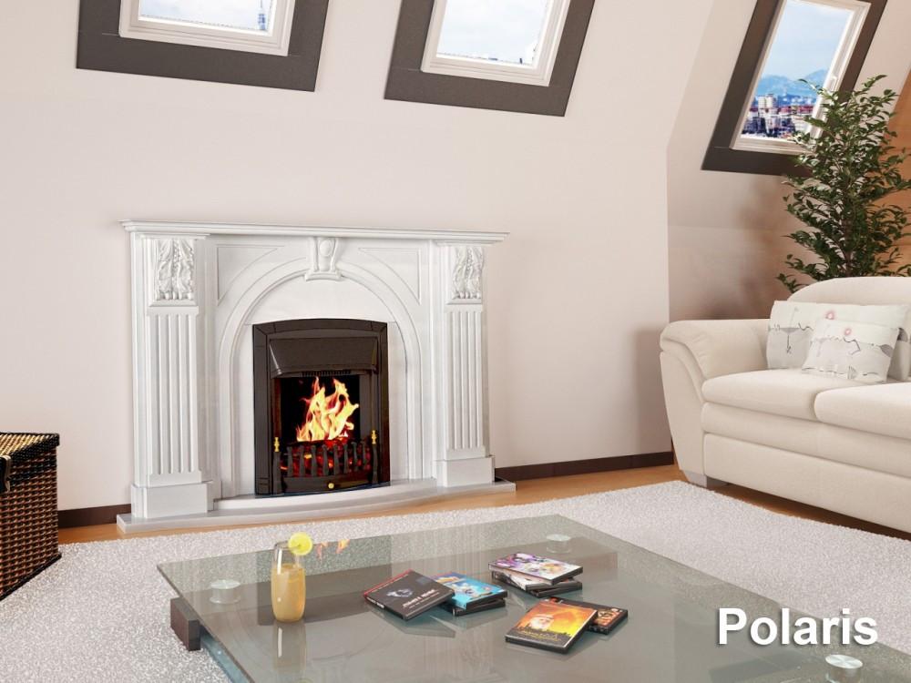 Мраморный камин Полярис