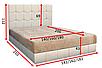 Мягкая кровать Магнолия 160 Вика (мебельная ткань), фото 2