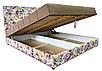 Мягкая кровать Магнолия 160 Вика (мебельная ткань), фото 3