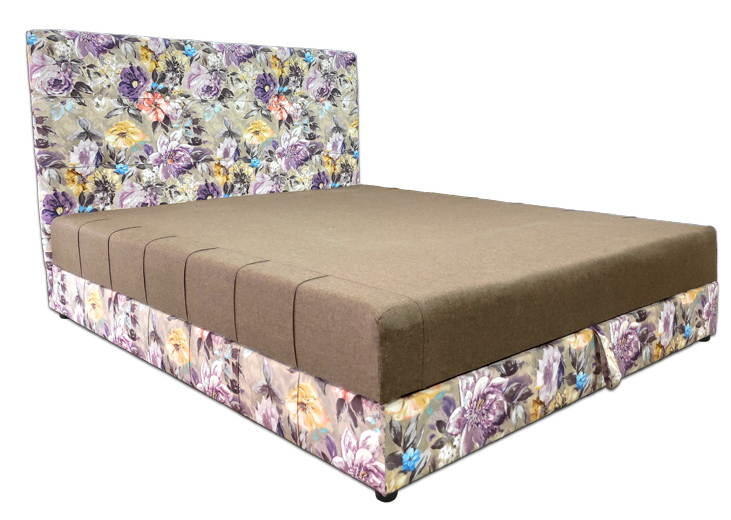 Мягкая кровать Магнолия 160 Вика (мебельная ткань)