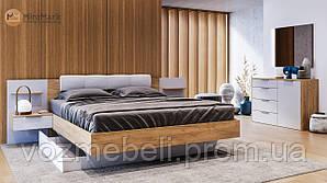 Ліжко Асті 140*200 м'яка спинка без каркаса /MiroMark/