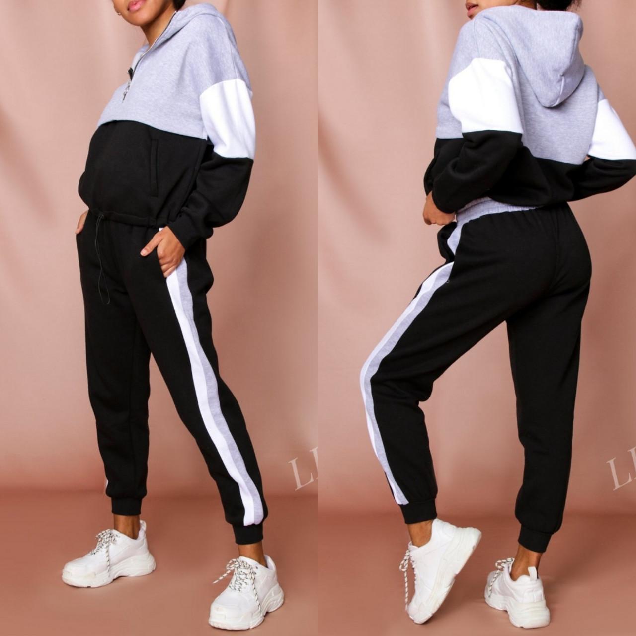 Женский спортивный костюм Турция, размеры норма, штаны+толстовка р.42-44,46-48 Код 807L