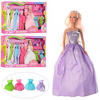 Набор с нарядами кукла 29 см Дефа Defa 8027. Платья 11 штук Т