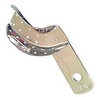 Ложка оттискная стоматологическая перфорированная для коронок и мостовидных протезов, правая № 3 Surgiwelomed