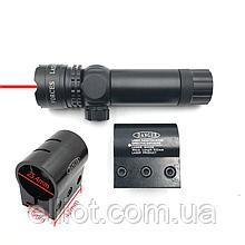 ЛЦУ Тактичний червоний точковий лазер на планку 20 мм