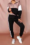 Женский спортивный костюм Турция, размеры норма, штаны+толстовка р.42-44,46-48 Код 807L, фото 8