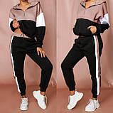 Женский спортивный костюм Турция, размеры норма, штаны+толстовка р.42-44,46-48 Код 807L, фото 6