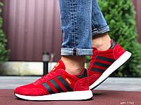 Чоловічі кросівки Adidas Iniki червоні – демісезонні в стилі Адідас замшеві