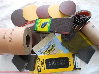 Гибкая шлифовальная продукция: шкурка, лента, наждачка