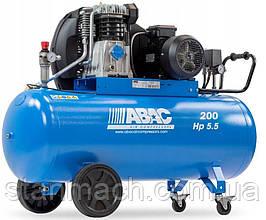 Компресор ABAC PRO A49 200CT4 200л, 400/3/50, 553л/хв, 11бар, 3кВт, 1300об/хв, 93дБ, 105кг
