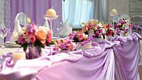 Свадебный стол - декор цветами