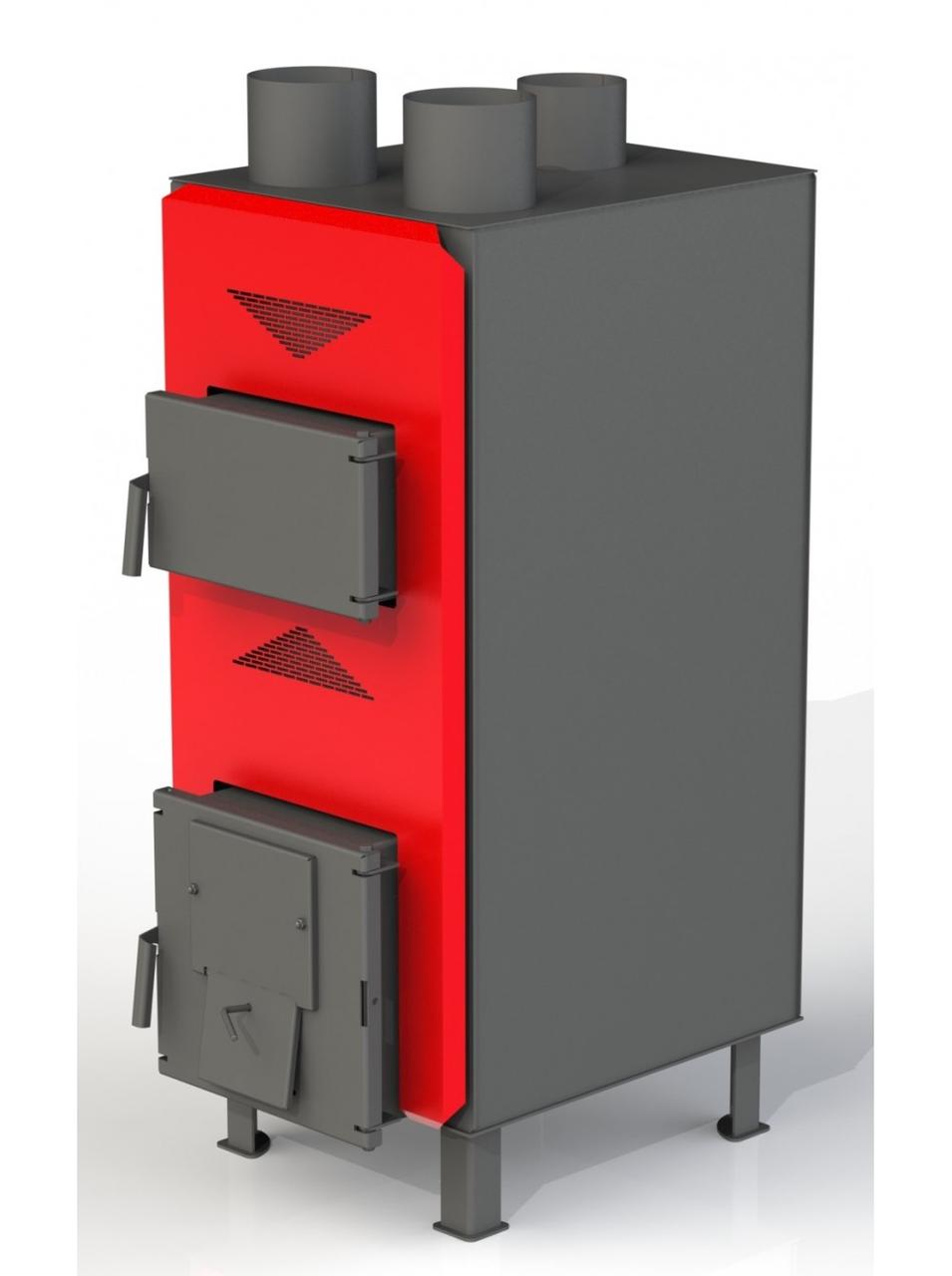 Теплогенератор Dragon ТТГ-РТ 25 кВт (6-2мм) твердотопливный воздушного отопления из котловой стали