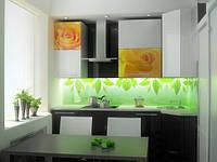 Фартук кухонный с подсветкой и фотопечатью на стекле