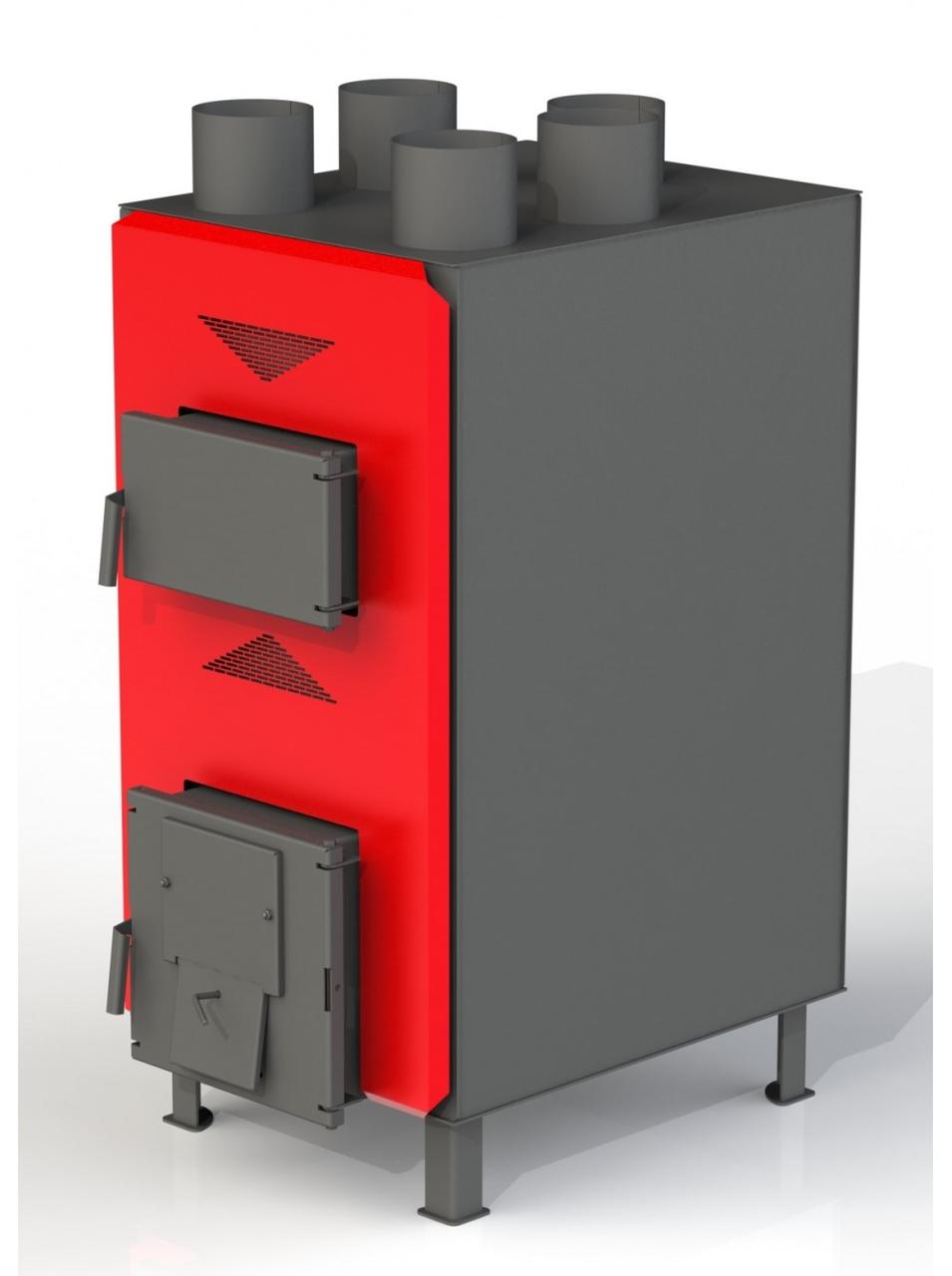 Теплогенератор Dragon ТТГ-РТ 35 кВт (6-2мм) твердотопливный воздушного отопления из котловой стали