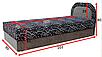 Мягкая кровать Ривьера 90 Вика (матрасная ткань), фото 2