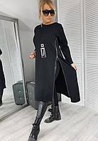 Платье туника трикотажное с кулоном 43404