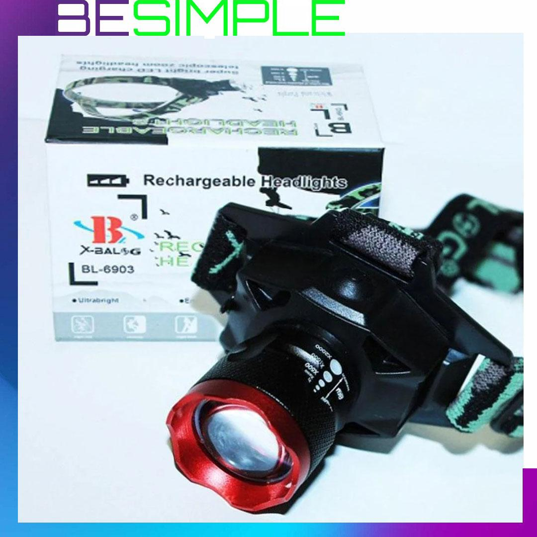 Ультрафиолетовый налобный фонарь Bailong Police BL-6903-2