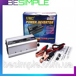 Авто інвертор UKC 12V-220V 1500W / Автомобільний перетворювач напруги