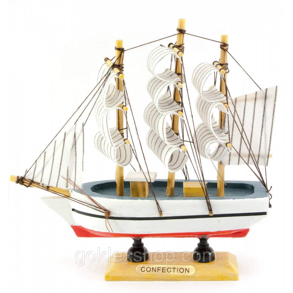 Кораблик деревянный (16х16,5х4,5 см)