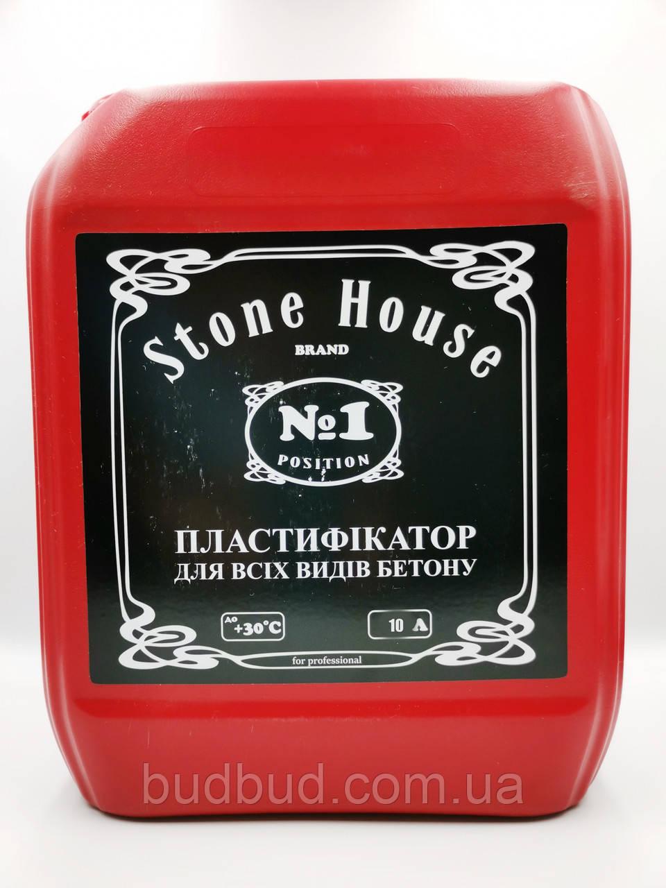 Пластифікатор ТМ «Stone House» №1 для всіх марок і класів бетону 10л.