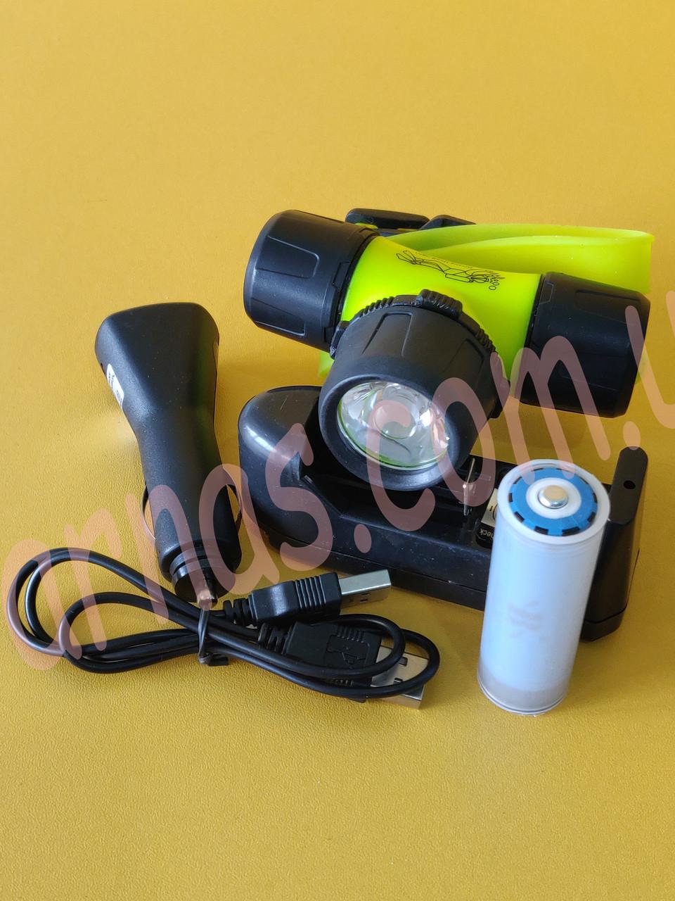 Аккумуляторный налобный фонарь для дайвинга BL-6800