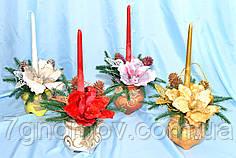 Композиция новогодняя со свечой, коллекция А-18