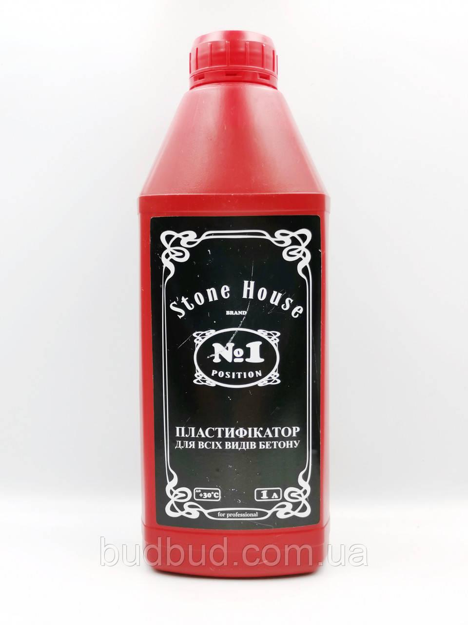 Пластифікатор ТМ «Stone House» №1 для всіх марок і класів бетону 1л.
