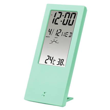 Термометр/гигрометр HAMA TH 140 с индикатором погоды mint артикул 00176916, фото 2