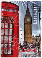 Тетрадь-словарь для иностранного языка, твердый переплет, Лондон